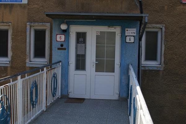 Vchod do ubytovne