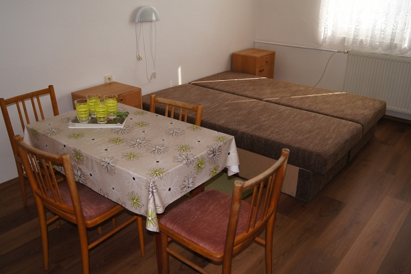 Štvorlôžkové izby s výhľadom na Dunaj s chladničkou bez TV, č.52,53